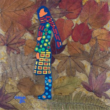 Mixed Media Collage Art for Sale. Mixed media art artwork by artist Ashleigh Dix. Title: Autumn