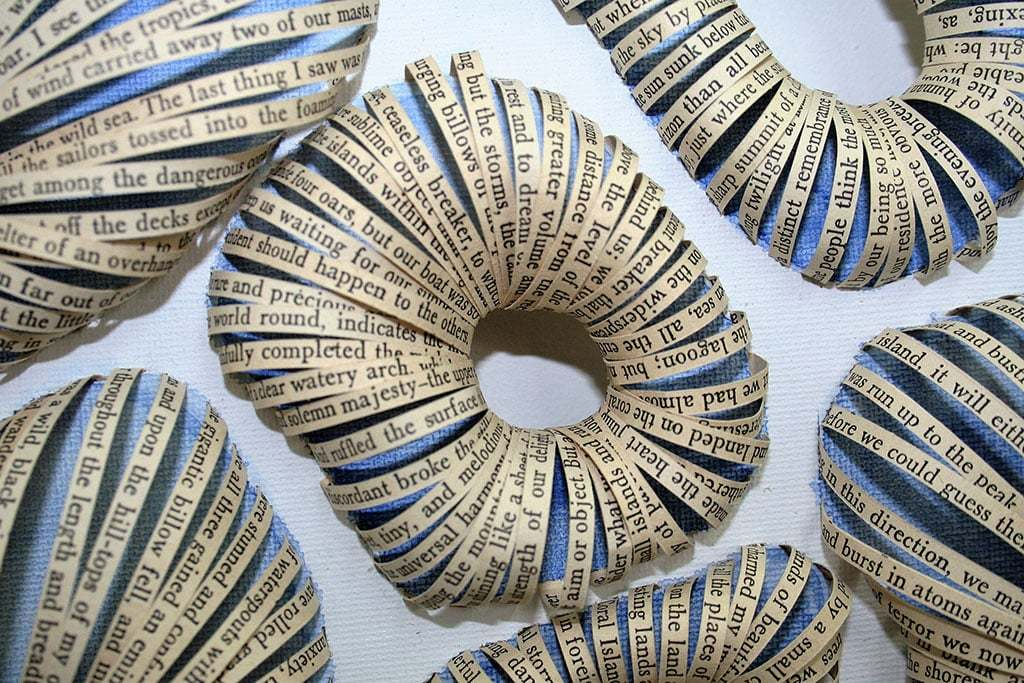 Mixed Media Art Blog - Artist Interview - Thurle Wright - Book Art - ATOLL - Text from Coral Island.