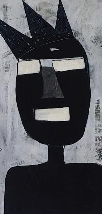 Artist Interview - Sue Munson - Mixed Media Artist - CUBAN BOY - £550 - 80x80cm