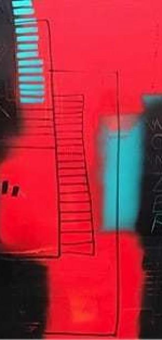 Mixed Media Art Blog - Artist Interview - Sue Munson - Mixed Media Artist - WOWZER - £950 - 100cm x 100cm